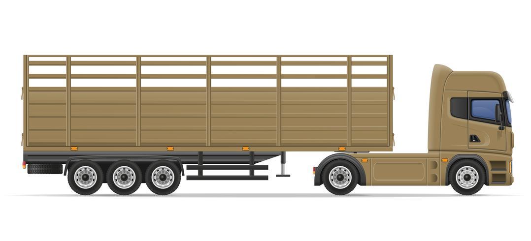 camión semi remolque para transporte de mercancías vector illustration