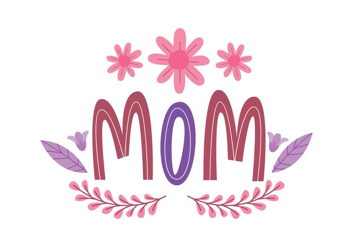 Flower Mom Typography