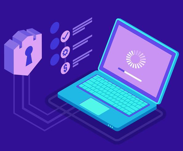 Cyber Security Illustratie