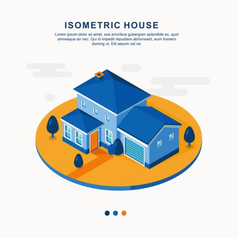 Isometrische Hausvektor