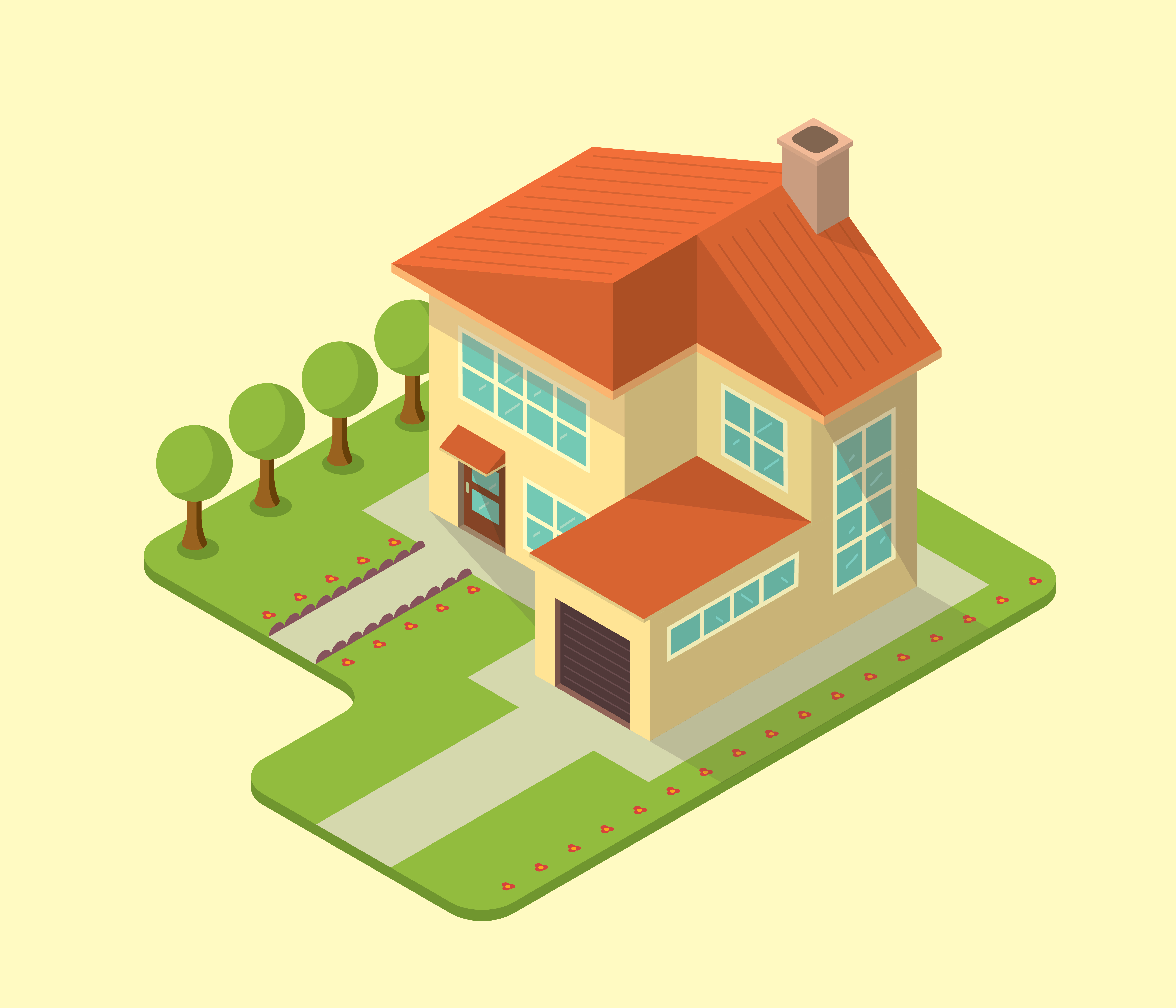 Isometric house download free vectors clipart graphics for Home design 3d professional italiano gratis