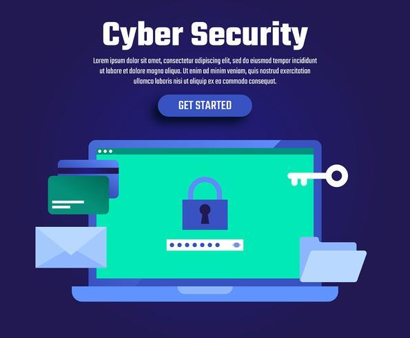 Ilustración de seguridad cibernética
