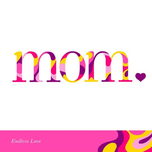 Tipografía Paint Splash Mom vector