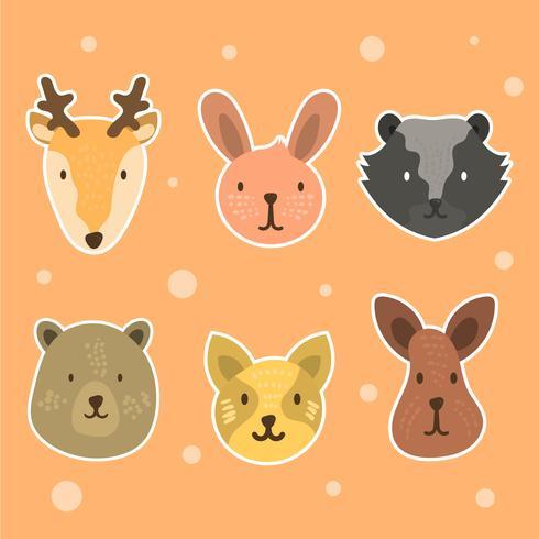 Sticker visage animal