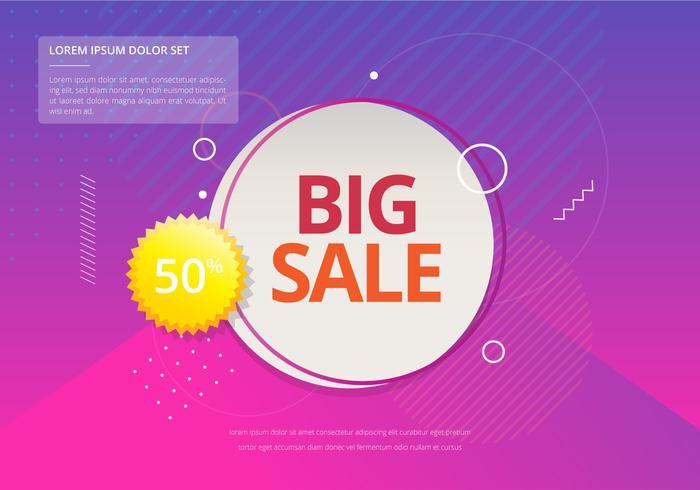Sale Typography Modern Stylish Illustration