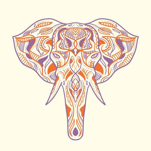 Painted elephant illustration