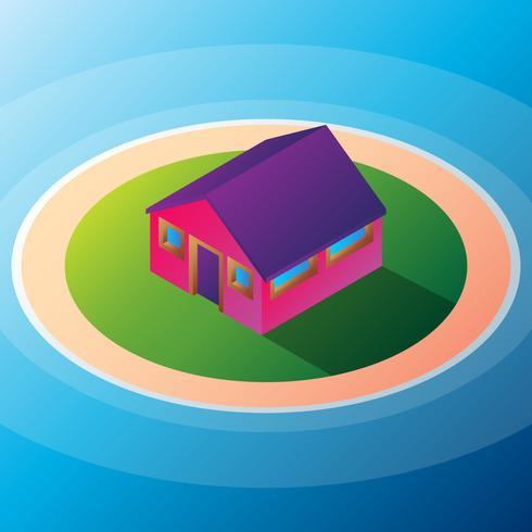 Illustrazione isolata della piccola casa di Isomatic