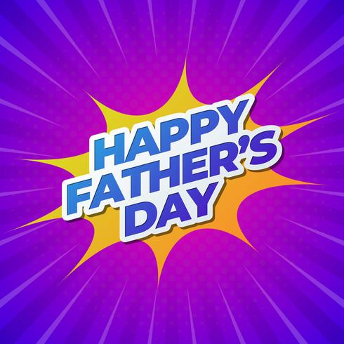 Happy Father's Day Banner vector