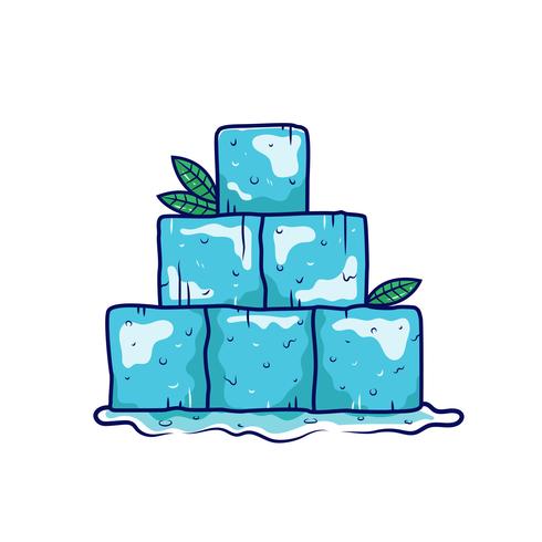 Vetor de clipart de cubo de gelo