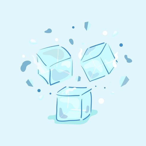Vecteur de cube de glace