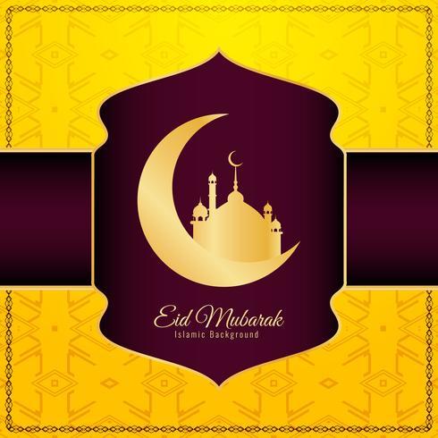 Abstracte elegante Eid Mubarak decoratieve achtergrond