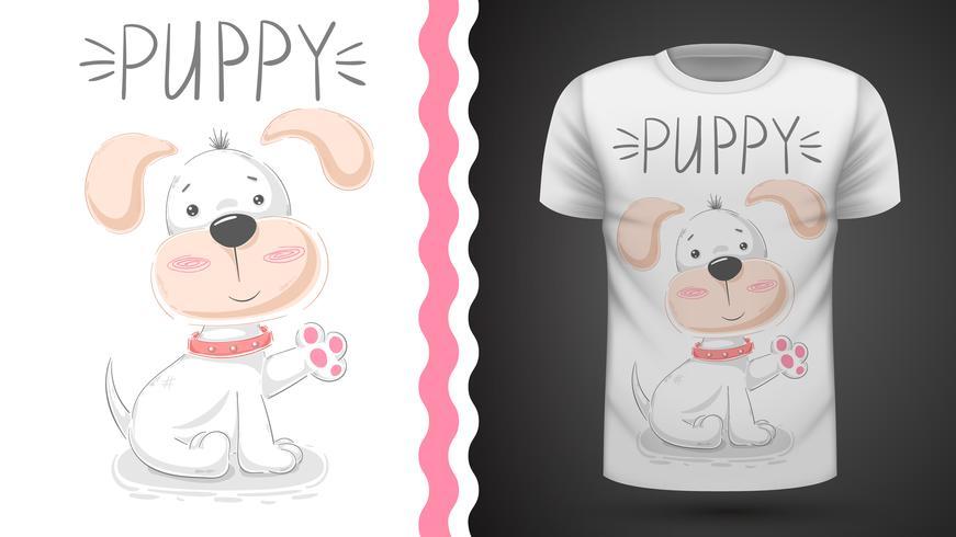 Perrito lindo - idea para imprimir camiseta.
