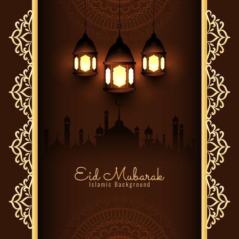 Abstract modieus Eid Mubarak-ontwerp als achtergrond