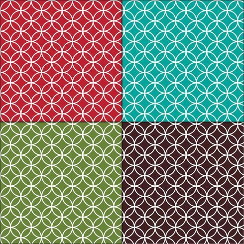 Padrões de azulejos de círculos marroquinos interligados