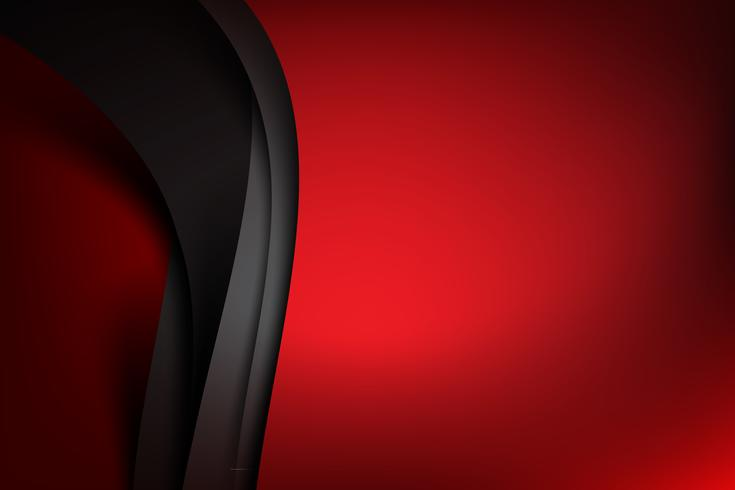 Fondo abstracto rojo oscuro y capa negra se superpone 001 vector