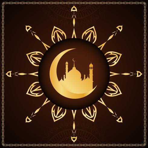 Abstrait élégant décoratif Eid Mubarak