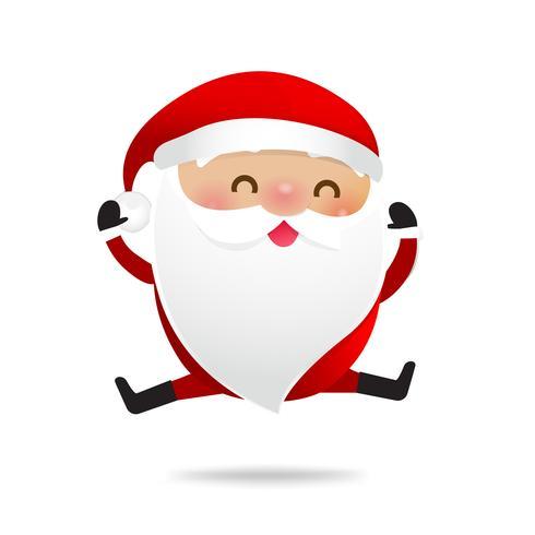 Happy Christmas character Babbo Natale cartoon 009