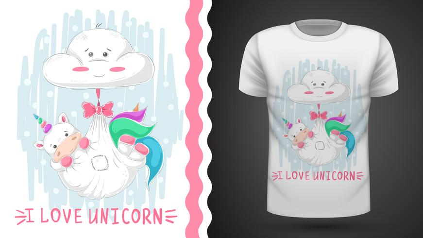 Teddy unicorn sleep - idea per t-shirt stampata.