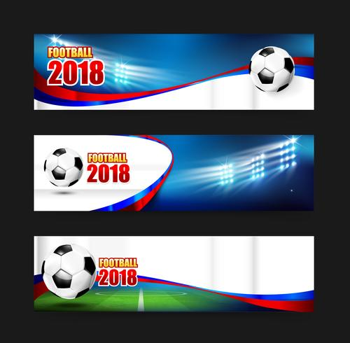 Soccer Football 2018 Web banner 001 vector