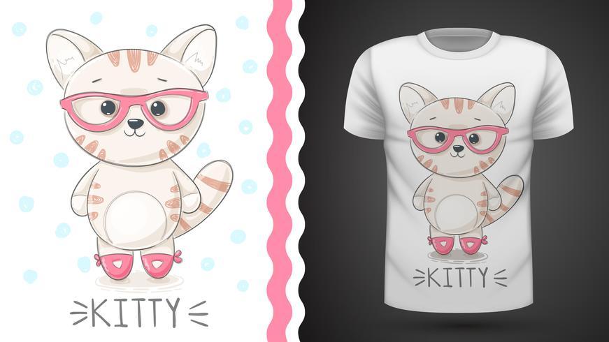 Bonita idea para camiseta estampada. vector