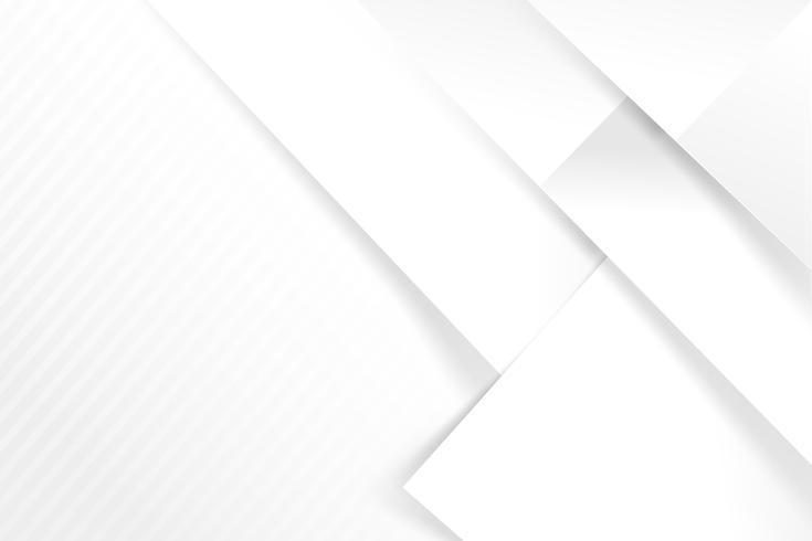 Abstracte witte en grijze achtergrond fundamentele meetkunde overlapt met schaduw vectorillustratie 005