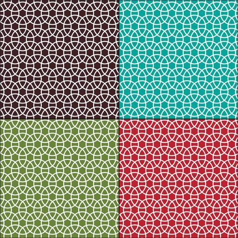 círculos interligados padrões geométricos sem emenda