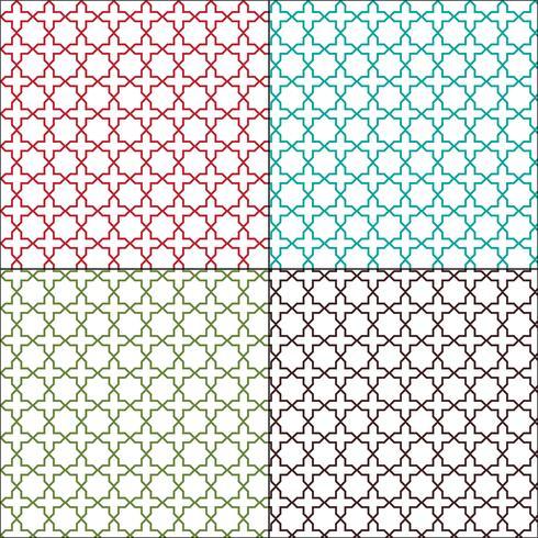 Azulejos marroquíes sin costura patrones