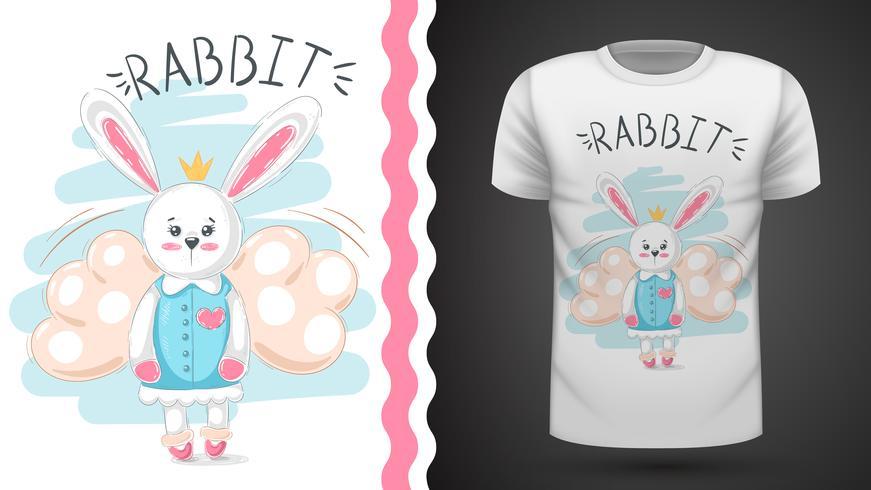 Conejo lindo - idea para imprimir camiseta.