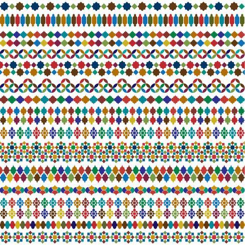 bordi marocchini colorati