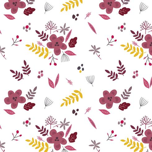 Fundo floral bonito com flores e folhas da primavera