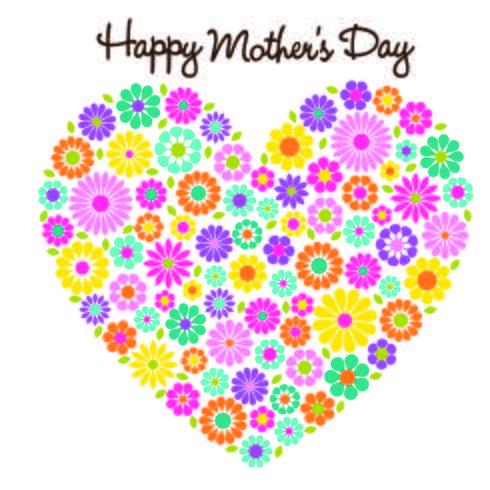 felice cuore della mamma fiore cuore grafico