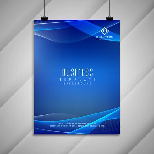 Abstrait design élégant brochure d'affaires ondulées