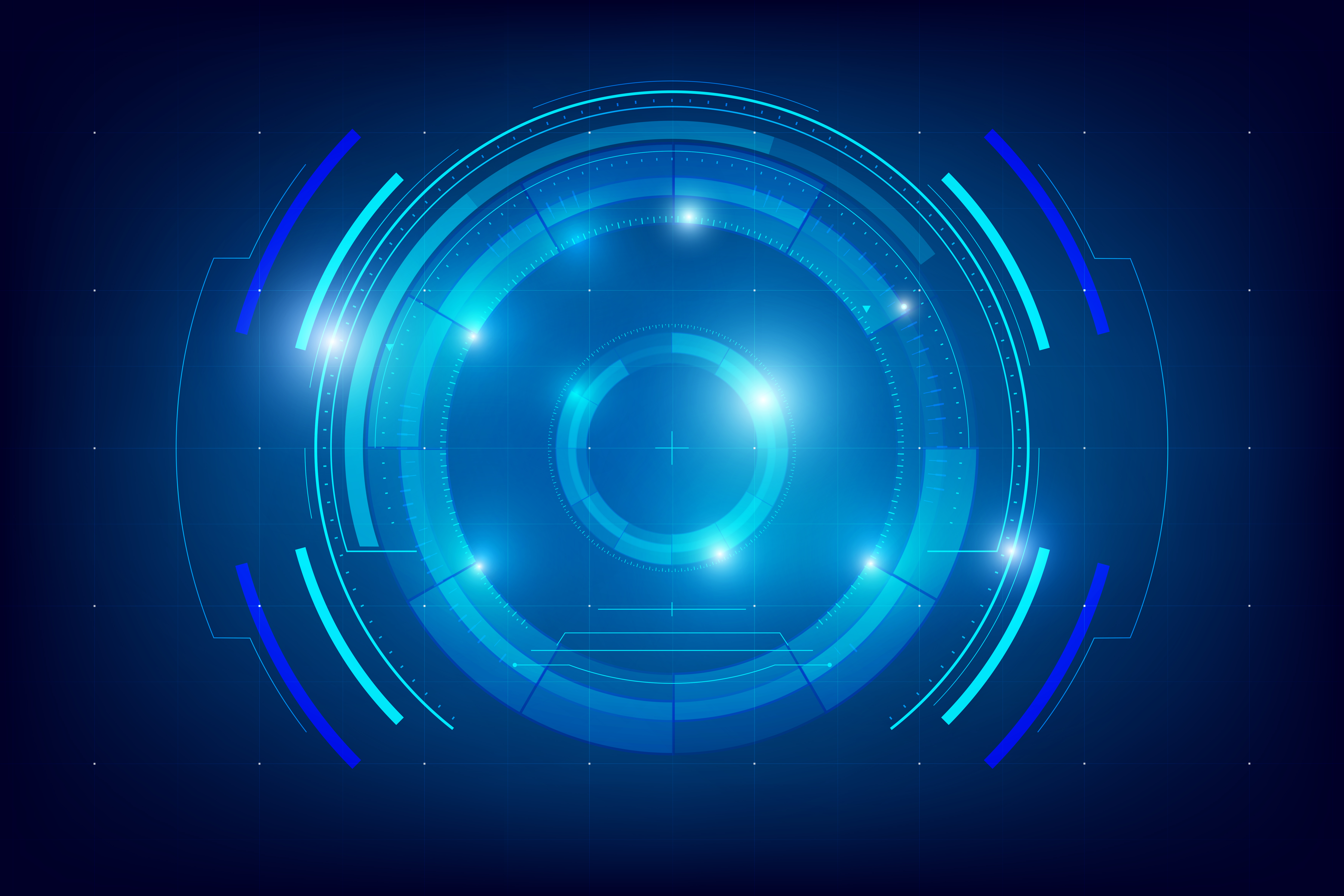 Abstract Technology Wallpaper Group With 78 Items: Abstract HUD Technology Background 004