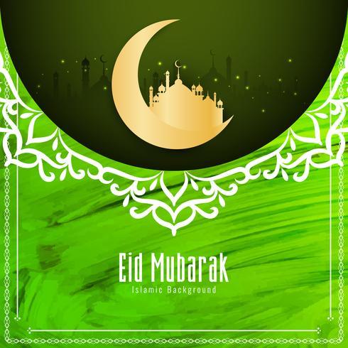 Abstract Eid Mubarak-waterverfontwerp als achtergrond
