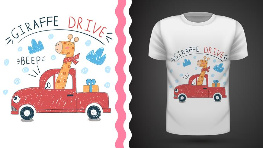 Girafa bonito - idéia para impressão t-shirt