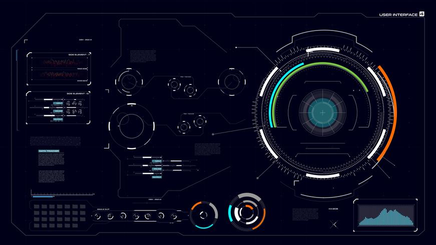 Interface HUD GUI 004 vetor