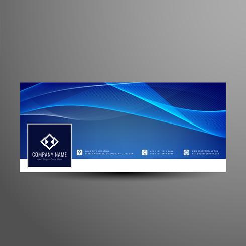 Abstracto azul ondulado plantilla de banner de línea de tiempo de facebook