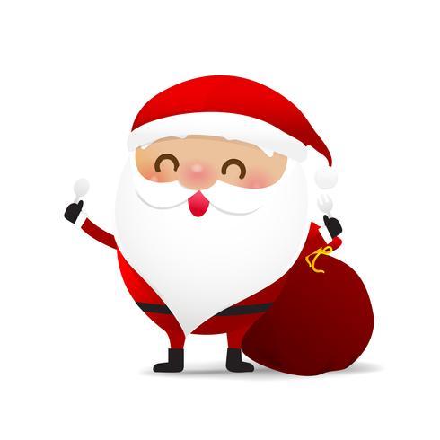 Personagem de Natal feliz Papai Noel desenho animado 001