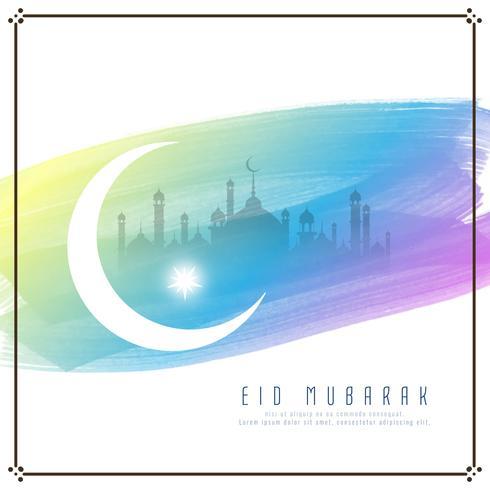Progettazione astratta del fondo dell'acquerello di Eid Mubarak