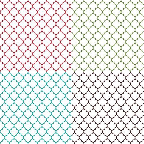 Arabescos marroquíes delinean patrones de azulejos sin costura