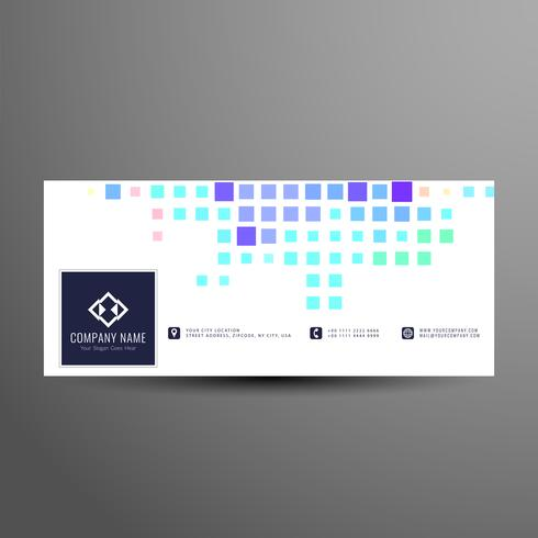Abstract colorful mosaic facebook timeline banner template