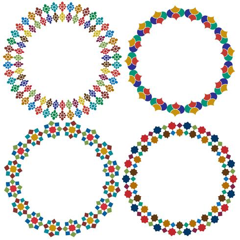 Marokkanische Fliese Kreisrahmen