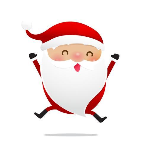 Frohe Weihnachten Charakter Weihnachtsmann Cartoon 011