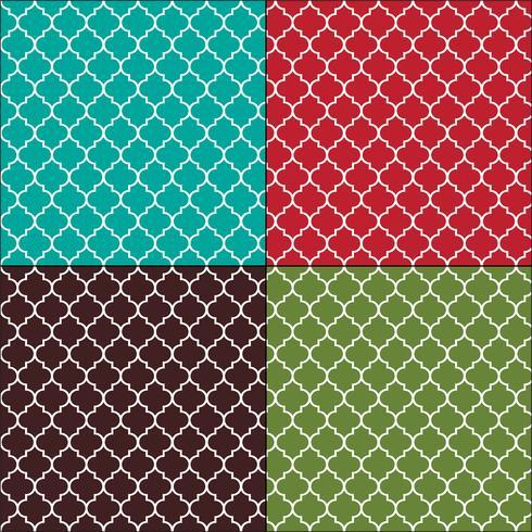 Arabescos marroquíes patrones de azulejos sin costura