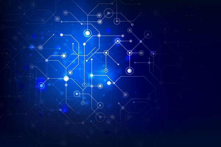 Conexão de fundo abstrato internet social, ponto e elemento de linha 012 vetor