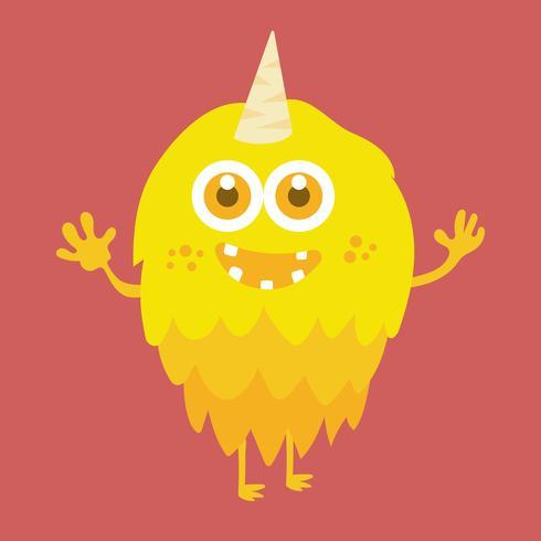 Personagem de desenho animado bonito monstro 010