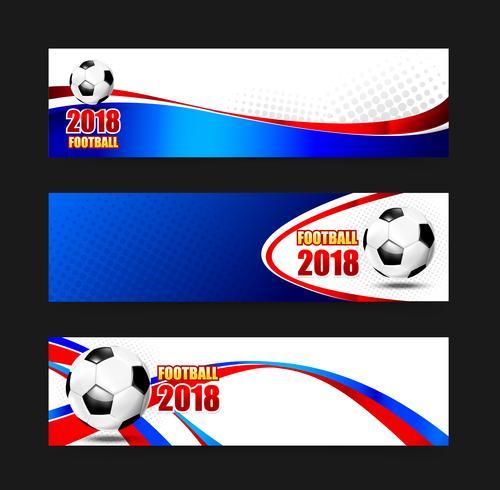 Soccer Football 2018 Web banner 002 vector