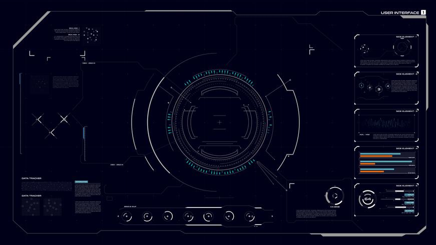 Interface graphique HUD 001