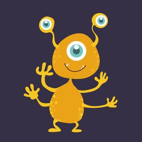 Cute monster cartoon character 005 vector