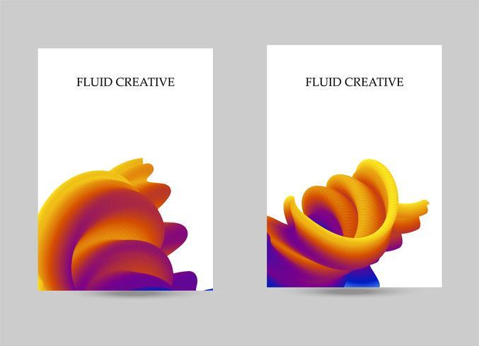 copertura fluida e sfondo bandiera liquida